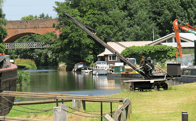 River Wey in Staines, Surrey